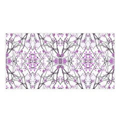 Geometric Pattern Nature Print  Satin Shawl