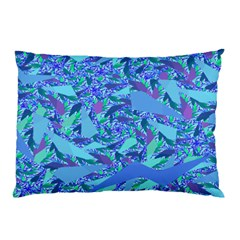 Blue Confetti Storm Pillow Cases