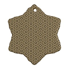 Cute Pretty Elegant Pattern Snowflake Ornament (2-Side)