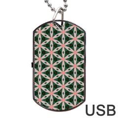 Cute Pretty Elegant Pattern Dog Tag USB Flash (One Side)
