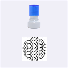 Lovely Trendy Pattern Background Pattern Rubber Round Stamps (Small)