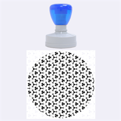 Lovely Trendy Pattern Background Pattern Rubber Round Stamps (large)