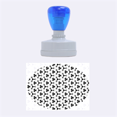 Lovely Trendy Pattern Background Pattern Rubber Oval Stamps