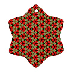 Lovely Trendy Pattern Background Pattern Snowflake Ornament (2-Side)