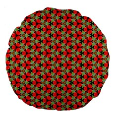 Lovely Trendy Pattern Background Pattern Large 18  Premium Flano Round Cushions