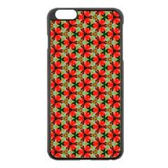 Lovely Trendy Pattern Background Pattern Apple iPhone 6 Plus Black Enamel Case