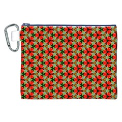 Lovely Trendy Pattern Background Pattern Canvas Cosmetic Bag (XXL)