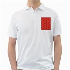 Lovely Orange Trendy Pattern  Golf Shirts