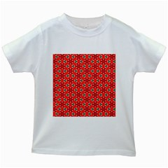 Lovely Orange Trendy Pattern  Kids White T-Shirts