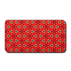 Lovely Orange Trendy Pattern  Medium Bar Mats