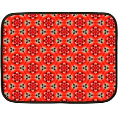 Lovely Orange Trendy Pattern  Fleece Blanket (mini)