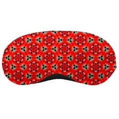 Lovely Orange Trendy Pattern  Sleeping Masks