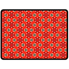 Lovely Orange Trendy Pattern  Fleece Blanket (Large)