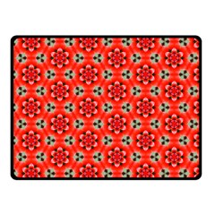 Lovely Orange Trendy Pattern  Fleece Blanket (small)