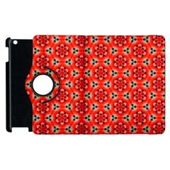 Lovely Orange Trendy Pattern  Apple iPad 2 Flip 360 Case