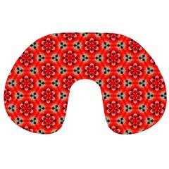 Lovely Orange Trendy Pattern  Travel Neck Pillows