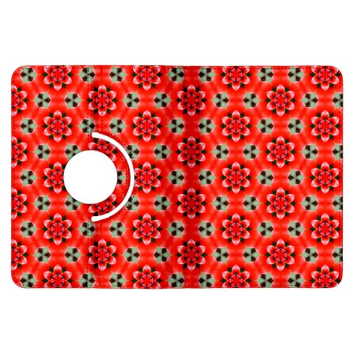Lovely Orange Trendy Pattern  Kindle Fire HDX Flip 360 Case