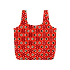 Lovely Orange Trendy Pattern  Full Print Recycle Bags (s)