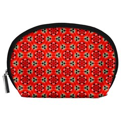 Lovely Orange Trendy Pattern  Accessory Pouches (Large)