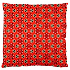 Lovely Orange Trendy Pattern  Large Flano Cushion Cases (Two Sides)