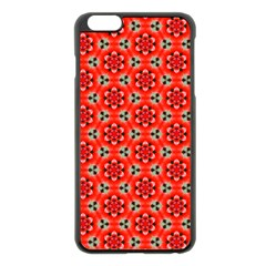 Lovely Orange Trendy Pattern  Apple iPhone 6 Plus Black Enamel Case