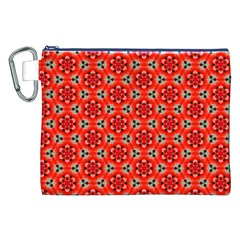 Lovely Orange Trendy Pattern  Canvas Cosmetic Bag (XXL)