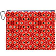 Lovely Orange Trendy Pattern  Canvas Cosmetic Bag (XXXL)