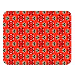 Lovely Orange Trendy Pattern  Double Sided Flano Blanket (Large)