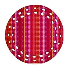 Cute Pretty Elegant Pattern Round Filigree Ornament (2side)