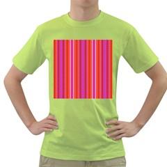 Orange Tribal Aztec Pattern Green T Shirt