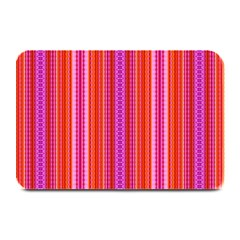 Orange Tribal Aztec Pattern Plate Mats