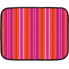 Orange Tribal Aztec Pattern Fleece Blanket (mini)
