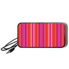 Orange tribal aztec pattern Portable Speaker (Black)