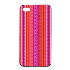 Orange Tribal Aztec Pattern Apple Iphone 4/4s Seamless Case (black)