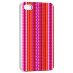 Orange Tribal Aztec Pattern Apple Iphone 4/4s Seamless Case (white)