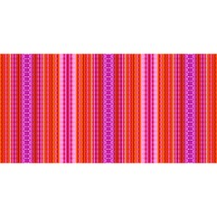 Orange tribal aztec pattern YOU ARE INVITED 3D Greeting Card (8x4)