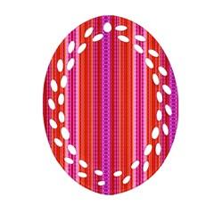 Orange tribal aztec pattern Ornament (Oval Filigree)
