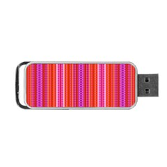 Orange Tribal Aztec Pattern Portable Usb Flash (two Sides)