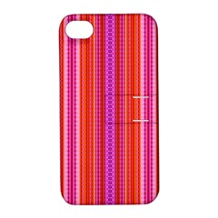 Orange Tribal Aztec Pattern Apple Iphone 4/4s Hardshell Case With Stand