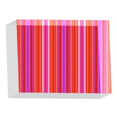 Orange tribal aztec pattern 5 x 7  Acrylic Photo Blocks