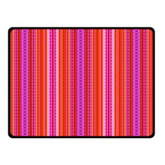 Orange tribal aztec pattern Double Sided Fleece Blanket (Small)