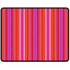Orange tribal aztec pattern Double Sided Fleece Blanket (Medium)