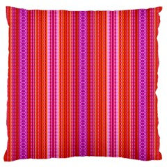 Orange tribal aztec pattern Large Flano Cushion Cases (One Side)