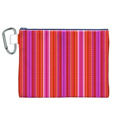 Orange tribal aztec pattern Canvas Cosmetic Bag (XL)