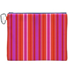 Orange tribal aztec pattern Canvas Cosmetic Bag (XXXL)