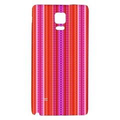 Orange tribal aztec pattern Galaxy Note 4 Back Case
