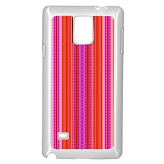 Orange tribal aztec pattern Samsung Galaxy Note 4 Case (White)