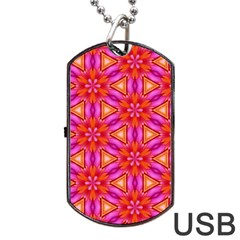 Cute Pretty Elegant Pattern Dog Tag Usb Flash (two Sides)