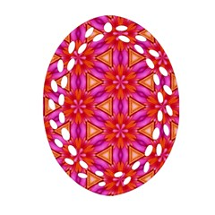 Cute Pretty Elegant Pattern Oval Filigree Ornament (2 Side)