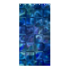 Blue Squares Tiles Shower Curtain 36  x 72  (Stall)